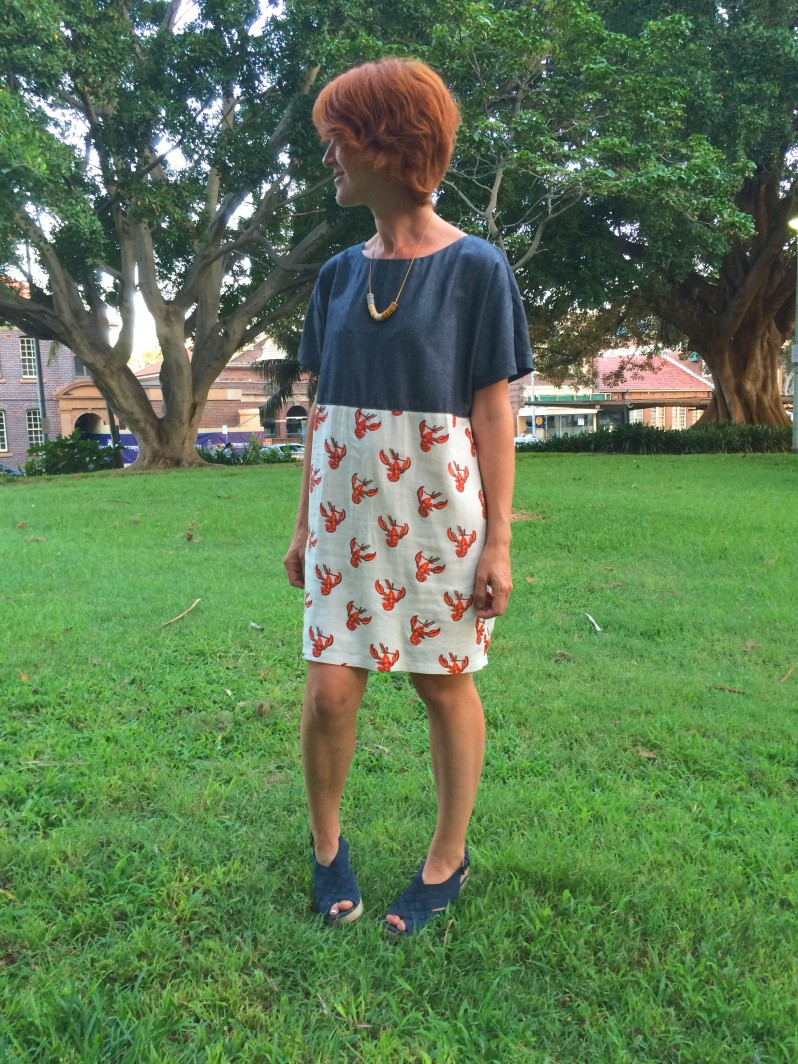 Lobster dress upcycle
