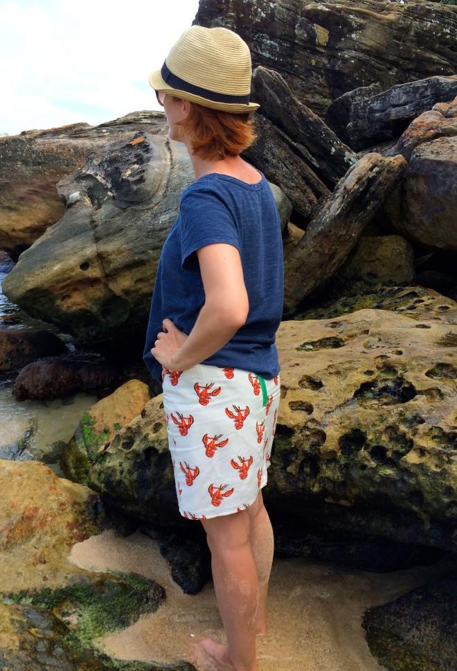 Lobster mini skirt upcycle